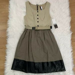 NWT Kensie Linen Blend A-Line Belted Dress XS